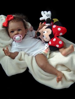 Reborn Ethnic AA Biracial Beautiful Baby Girl Laura Laura Tuzio Ross Doll