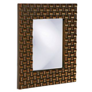 style selections 26in x 32in wood grain beveled rectangle fr