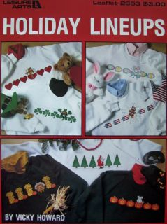 Holiday Lineups Cross Stitch Pattern Leaflet 7 Cute Waste Canvas Designs