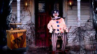 New Animated Animatronic Crazy Clown Carnival Evil Creepy Halloween Prop