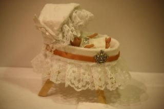 12th OOAK Handmade Royal Baby Doll Nursery Crib Cot Artist Prince Princess