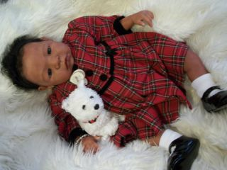 Beautiful Christmas Reborn Ethnic AA Biracial Baby Girl Riley by Aleina Peterson