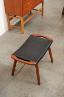 1950s Danish Modern Teak Stool Chair Ottoman Hans Wegner Mid Century Eames Era