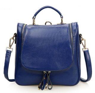 Women's Genuine Leather Multi Use Totes Satchel Shoulder Bag Handbag Backpack
