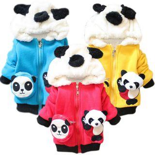 Kid Baby Toddler Coats Girl Boy Hoodie Animal Panda Winter Outerwear Tops 1 3Y