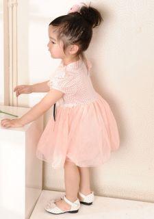 Baby Girl Pink Tutu Dress Party Petti Skirt Polka Dot Princess Ruffled Flower UK