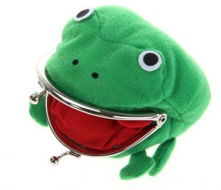New Cool Frog Fluff Coin Purse Wallet Cute Ninja Anime Manga Cartoon Green 1256D