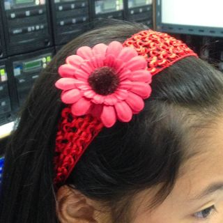 6 Colors Choices Cute Baby Girl Kid Head Hair Band 4cm Sun Flower Stretch A1507