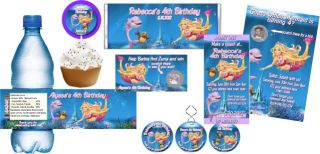 Barbie Mermaid Tale Birthday Party Invitations and Favors