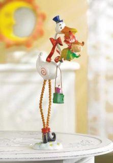 Stork Holding Baby Figurine Great Shower Decoration
