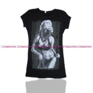 Women Funny T Shirt Marilyn Monroe Suger Gun Looking Bikini Fast Shipping