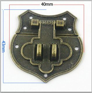 4 Antique Brass Decorative Hasp Jewelry Box Hasp Lock Latch 43 40mm with Screws