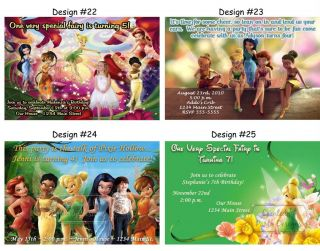 Tinkerbell Fairies Fairy Birthday Party Ticket Invitations Supplies Favors