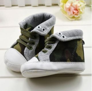 1pcs Baby Boys High Top Camouflage Boots Newborn Baby Boys Shoes Training Shoes