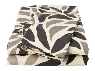Elite Malaga Collection 100 Percent Cotton Sateen 4 Piece Sheet Set   Queen Taupe/Black