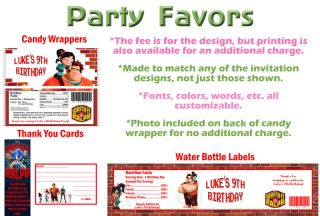 Wreck It Wreck It Ralph Birthday Party Ticket Invitations Supplies Favors