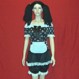 Gothic Rag Doll Halloween Costume with Wig Adult 10 12 Medium Woman