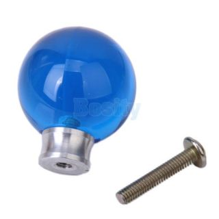 Acrylic ball pull knobs handles for door drawer cabinet decor blue