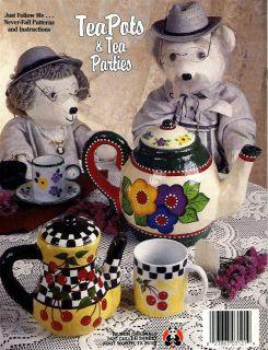 Tole Painting Pattern Book Teapots Tea Parties