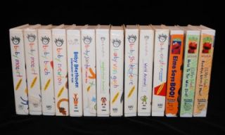 Set of 10 Baby Newton Baby Einstein VHS Tapes Plus 3 Sesame Street Elmo Tapes
