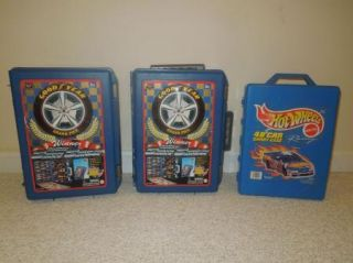 Huge Lot of 200 Matchbox Hotwheel Cars Trucks 1980's 2000 3 Storage Cases