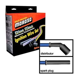 Moroso Spark Plug Wires Blue Max Spiral Core 8mm Blue Straight Boots SBC LS1