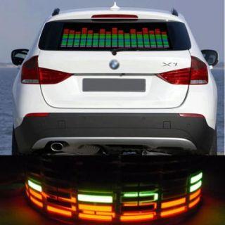 New 90x25cm Car Sticker Music Rhythm Sound Activated LED Light Lamp Equalizer