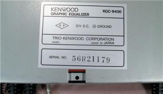 Kenwood KGC 9400 Micro Computer Controlled Graphic Equalizer Car Stereo