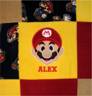 Custom Mario Luigi Twin Fleece Blanket Quilt Bedspread