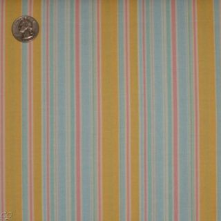 Moda Erin Michael Funky Monkey N Round Stripe Blue Banana Fabric New Cotton