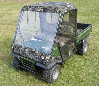 Kawasaki Mule 2500 2510 ATV Full Cab Enclosure Black