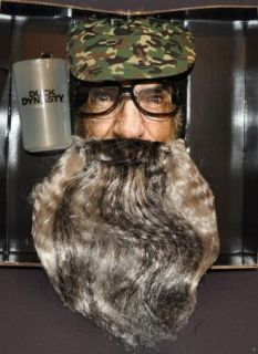 Boys Kids Child A E Duck Dynasty Uncle SI Beard Hat Glasses Tea Cup Costume Set