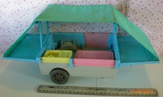 Fisher Price Loving Family Dollhouse Pull Behind camper Pop Up