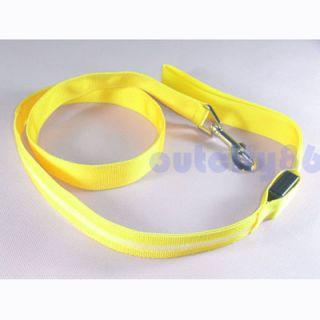 Dog LED Flashing Harness Pet Leash Rope Belt Safety Lead Light Nylon 5 Colors