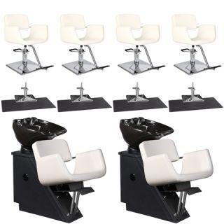 Beauty Salon Equipment Styling Chair Mat Shampoo Backwash Unit Package EB 34A