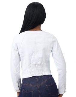 Baby Phat Pleated Front Denim Jacket