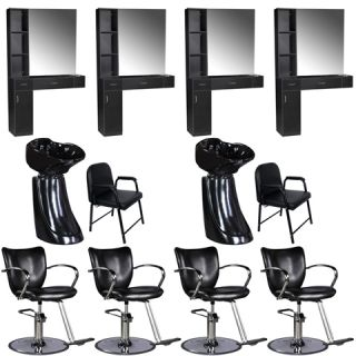 Beauty Salon Equipment Styling Station Chair Trolley Shampoo Bowl Package EB 64