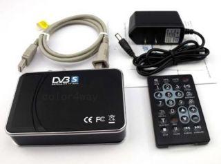 USB Digital Satellite DVB s TV Tuner Receiver Box DVR for Laptop PC