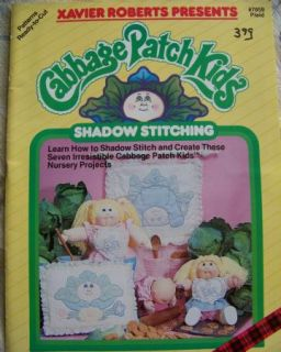 Vtg Cabbage Patch Kids Shadow Stitching Clothes Quilt Nursery Pattern Book Doll