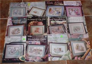 12 Leisure Arts Paula Vaughan Cross Stitch Patterns