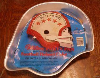Wilton Football Helmet Cake Pan w Insert Mushroom Team