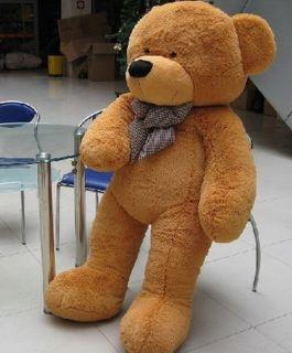 Giant 100cm 39'' Big Cute Brown Plush Teddy Bear Huge Soft 100 PP Cotton Toy La