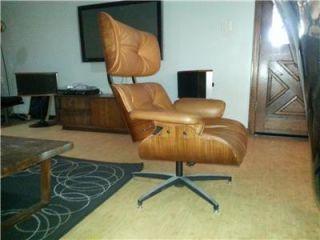Vtg Mid Century Modern Plycraft Herman Miller Inspired Leather Lounge Chair WOW