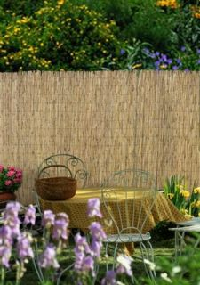 8 Feet Section of Banded Fence Authentic Bamboo w Natural Finish 4474896