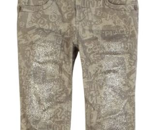 New Girls Limited Edition Trendy Skinny Jeans 18 Justice Gray Glitter $49 00
