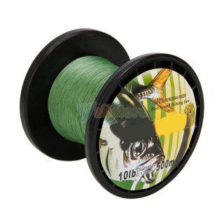 500M 0 18mm 10lb PE Spectra Braided Fishing Line Spool Durable Green Y932