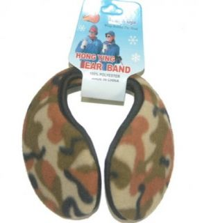 Ear Muffs Winter Warmers Brown Green Camo Color New