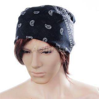 Unisex Paisley Bandana Head Scarf Necktie Headband Mask