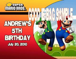 Mario Bros Galaxy Kart Birthday Party Ticket Invitations VIP Pass Favors U Print