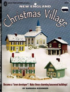 Tole Painting Pattern New England Christmas Village